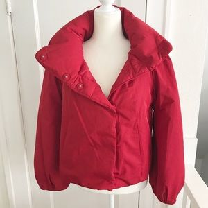 Ann Taylor Puffer Full Bell Sleeve Jacket